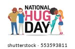 hug day poster with best... | Shutterstock .eps vector #553593811