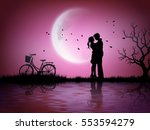 illustration of love and... | Shutterstock .eps vector #553594279
