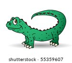 iguana in front of an isolated... | Shutterstock . vector #55359607