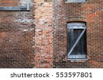 Old Weathered Brick Wall With...