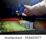 dices throw on craps table at...