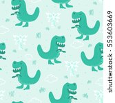 cute seamless pattern with... | Shutterstock .eps vector #553603669
