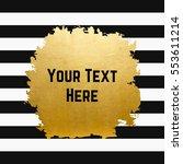 gold textured spot on black... | Shutterstock .eps vector #553611214