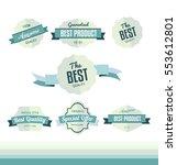 set of retro labels  flat... | Shutterstock .eps vector #553612801