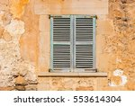 vintage window shutters. | Shutterstock . vector #553614304
