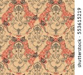 seamless pattern with lord...   Shutterstock . vector #553615219
