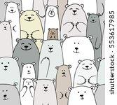 bears family  seamless pattern... | Shutterstock .eps vector #553617985