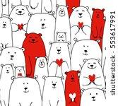 white bears family  valentine... | Shutterstock .eps vector #553617991