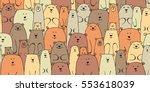 bears family  seamless pattern... | Shutterstock .eps vector #553618039
