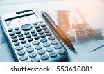 double exposure of set coin on...   Shutterstock . vector #553618081
