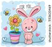 greeting card cute cartoon...   Shutterstock .eps vector #553620469