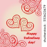 beautiful card for valentines... | Shutterstock .eps vector #553623679