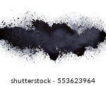stripe of spilt black paint  ... | Shutterstock . vector #553623964