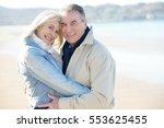 portrait of senior couple... | Shutterstock . vector #553625455