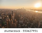 new york city skyline with... | Shutterstock . vector #553627951