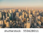 new york city skyline with... | Shutterstock . vector #553628011