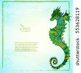 beautiful sea summer background ... | Shutterstock .eps vector #553628119