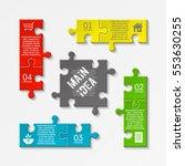 puzzle four piece business... | Shutterstock .eps vector #553630255