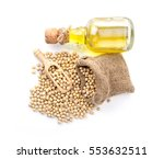 soybeans on white background. | Shutterstock . vector #553632511