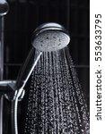 shower head in bathroom with...   Shutterstock . vector #553633795