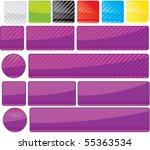 set of unusual multicolored... | Shutterstock .eps vector #55363534