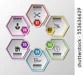 information infographic... | Shutterstock .eps vector #553636639