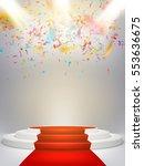 illuminated light festive stage ... | Shutterstock .eps vector #553636675