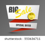 big sale banner with arrow in... | Shutterstock .eps vector #553636711