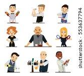 set of cartoon characters... | Shutterstock .eps vector #553637794