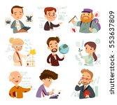 set of cartoon characters... | Shutterstock .eps vector #553637809