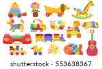 colorful toys for children. set ... | Shutterstock .eps vector #553638367
