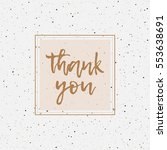 thank you greeting cards.... | Shutterstock .eps vector #553638691