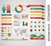 world map infographic. vector...   Shutterstock .eps vector #553643839