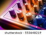 sound mixer console knobs   Shutterstock . vector #553648219