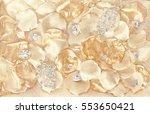 jewelry background   crystals... | Shutterstock . vector #553650421