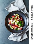 greek salad | Shutterstock . vector #553654981