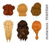 female characters wigs 6... | Shutterstock .eps vector #553655065