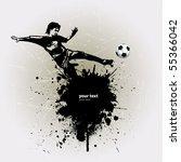 grunge soccer ball background... | Shutterstock .eps vector #55366042