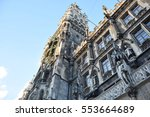 view of the munich town hall in ... | Shutterstock . vector #553664689