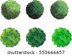 vector trees trees from above... | Shutterstock .eps vector #553666657