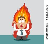 stressed businessman with hair... | Shutterstock .eps vector #553668079