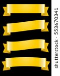 set of gold ribbons. global... | Shutterstock .eps vector #553670341