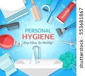 square hygiene toiletry... | Shutterstock .eps vector #553681867
