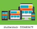 responsive computer design... | Shutterstock .eps vector #553683679