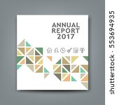 cover new annual report... | Shutterstock .eps vector #553694935