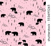 seamless pattern with bears | Shutterstock .eps vector #553695265
