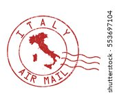 italy post office  air mail ... | Shutterstock .eps vector #553697104