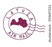 latvia post office  air mail ...   Shutterstock .eps vector #553697221