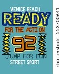 venice beach ready for action... | Shutterstock .eps vector #553700641