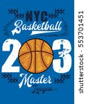 new york basketball master... | Shutterstock .eps vector #553701451